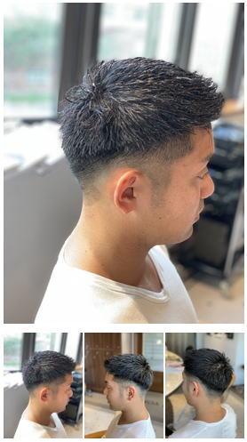 メンズビジネスマン短髪ツーブロック