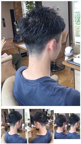 黒髪短髪ツーブロ刈り上げ大人メンズスタイル