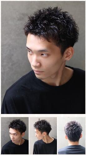 グランジベリショ/黒髪短髪/セミウェットワイルドツーブロック