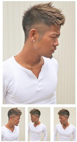 漢気束感メンズ刈り上げ短髪スタイル