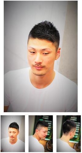 前髪アシメ3mmソフトモヒカン