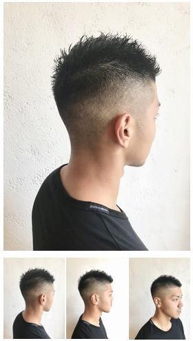 メンズボウズフェードカットヘアスタイル