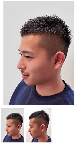 メンズ2ブロックショートヘアスタイル