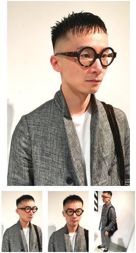 ビジネスアーバン黒髪とメガネ