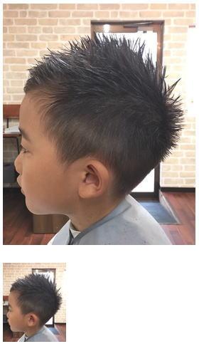 ツンツンキッズヘア/サイド襟足刈り上げスタイル