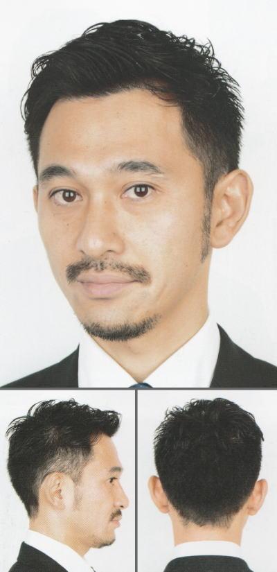 「自然な毛流れの大人ビジネスショート」ヘアスタイル