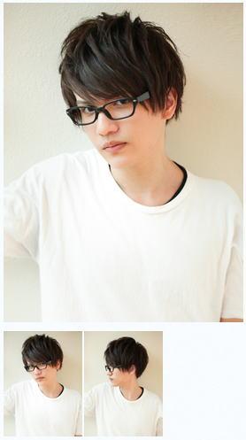 メンズメガネが似合う/ビジネス髪型