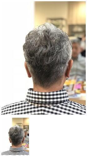 パーマスタイルがめちゃくちゃカッコイイグレイヘア
