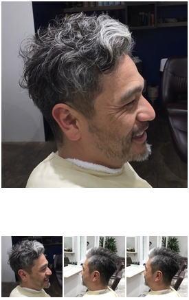 デキる男のアップバンクグレイヘア&パーマ